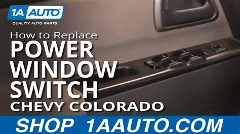 install replace master power window switch chevy