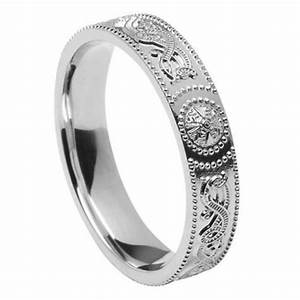 ladies celtic warrior silver wedding band celtic wedding With womens celtic wedding rings