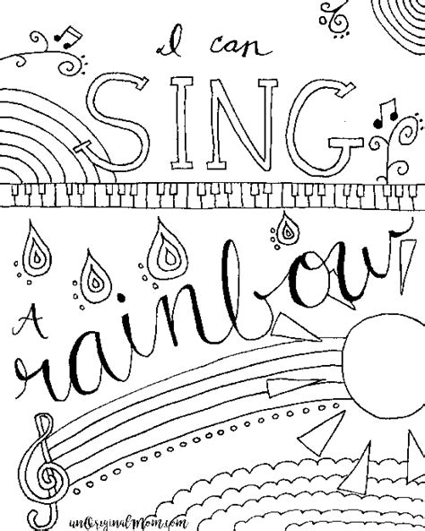relax color  printable musical coloring page