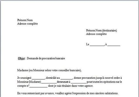 bureau du notaire télécharger modèle de lettre procuration bancaire pour