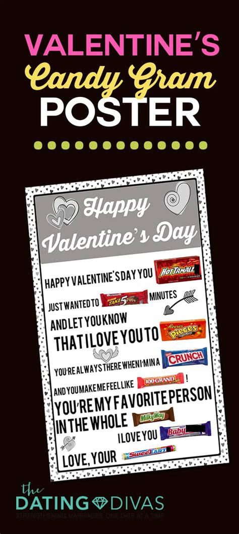 printable candy posters  dating divas