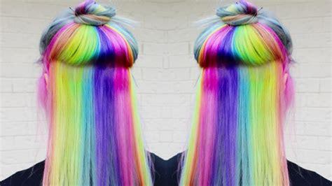 rainbow hair 30 rainbow hair color inspirations