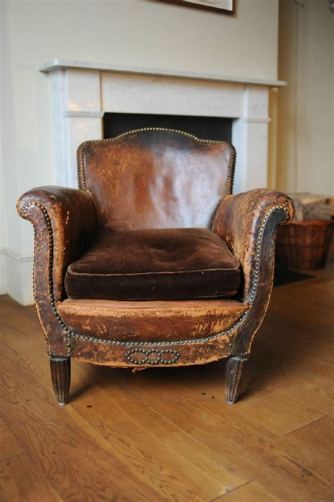 vintage leather chairs vintage club leather armchair aged leather with stud work 3234