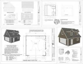 garage floor plans free free garage plans g527 24 x 24 x 8 loft and dormers dwg and pdf