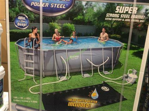 bestway pool oval bestway oval frame pool 18 x 9 x 48 costcochaser