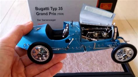 CMC Bugatti Type 35 Grand Prix 1924 die cast model - YouTube