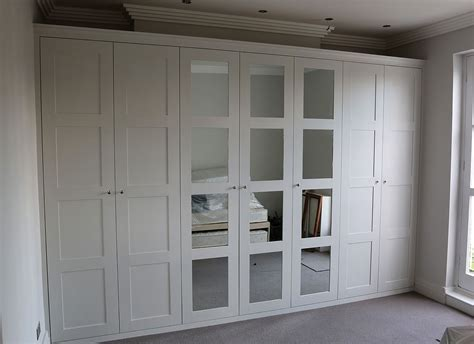 Fitted Wardrobe Doors by Fitted Wardrobe With Shaker Mirror Doors Closets