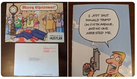 """Check spelling or type a new query. Hustler Magazine Sends GOP Lawmakers """"I Just Shot Donald Trump"""" Christmas Cards   Todd Starnes"""