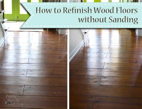 How To Refinish Wood Floors Without Sanding  Pretty Handy