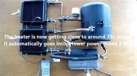 eberspacher 12v volt d4wsc water heater on test