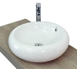 Lavandino da appoggio rotondo alto basso quadrato in ceramica bianca lucida in 3 modelli