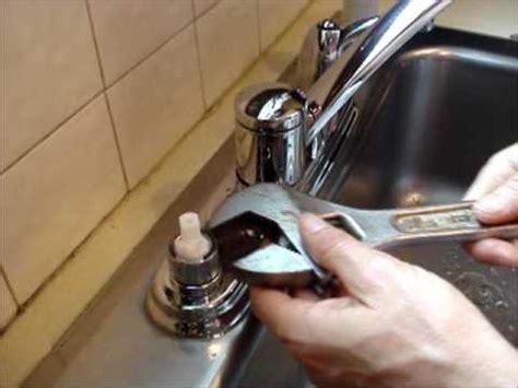 changing a kitchen sink faucet replace a moen kitchen faucet cartridge