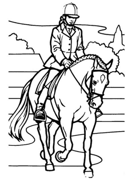 Kleurplaat Paard Tinker by Ecole Les Jeunes Pousses Le Sport Du Cheval
