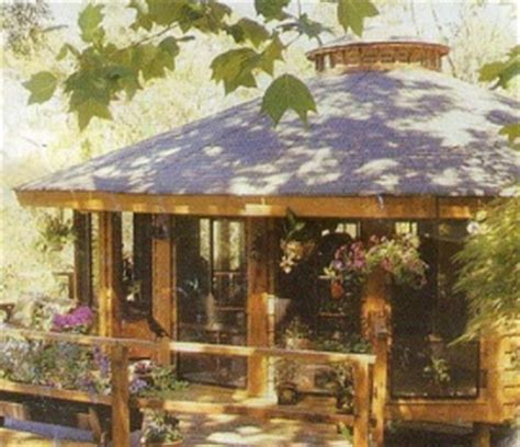 build  wood yurt  woodworking