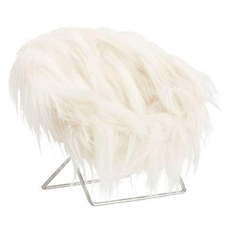 faux fur hang a phone chair pbteen