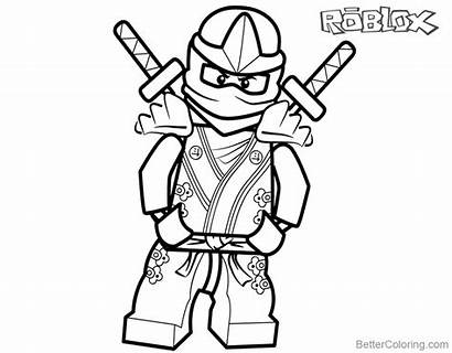 Roblox Coloring Pages Ninjago Lego Printable Boys