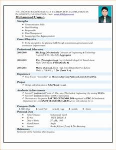 Resume Format Pdf For Engineering Freshers Resume Ideas