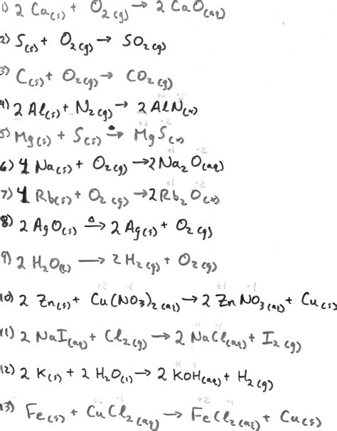 student exploration balancing chemical equations answer