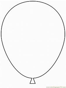 balloon Colouring Pages