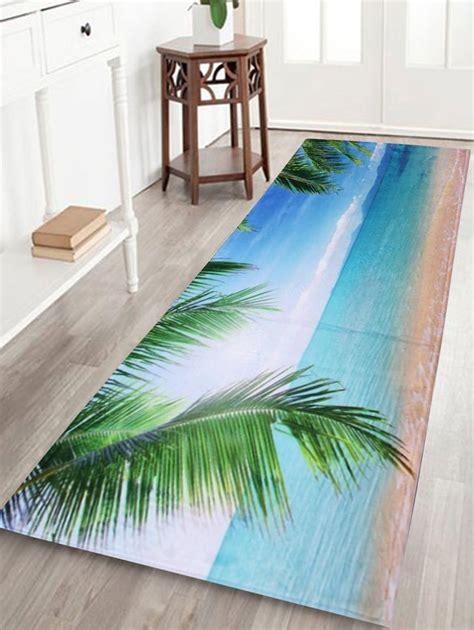 velvet beach scenery long bathroom rug long bathroom