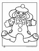 Clown Coloring Clowns Pages Printable Colouring Template Printer Sheets Gangster Circus Cream Send Button Special Scary Popular Coloringtop sketch template