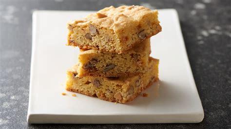 butterscotch cake mix blondies recipe bettycrockercom
