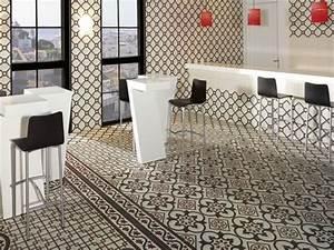 carrelage imitation carreaux de ciment point p With carrelage adhesif salle de bain avec bougies led casa