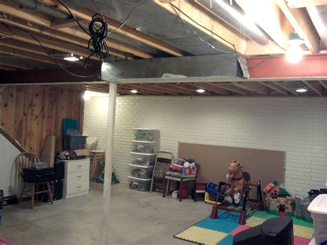 Unfinished Basement Ceiling Lighting Ideas by Basement Lighting Milwaukee Electrician Locally Owned