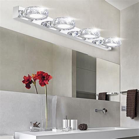 over the light fixture modern k9 crystal led bathroom make up mirror light cool