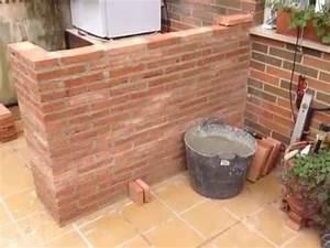 Como se hace una barra de ladrillo rustico Rustic brick bar Construction Parte 1 YouTube