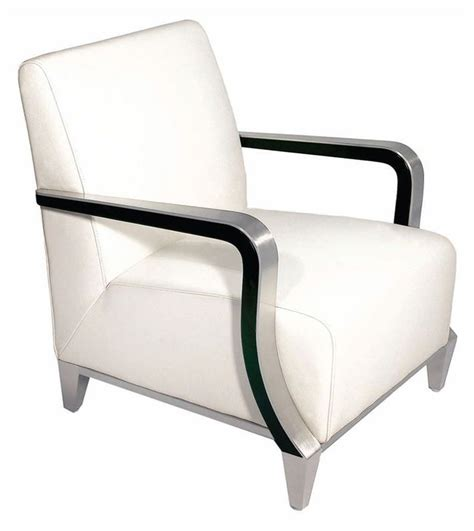 marbella white leather arm chair from bellini modern