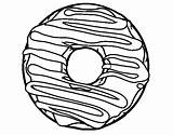 Donut Coloring Coloringcrew sketch template
