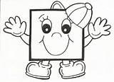 Square Coloring Preschool Crafts Worksheets Printable Kindergarten Toddler Shapes sketch template