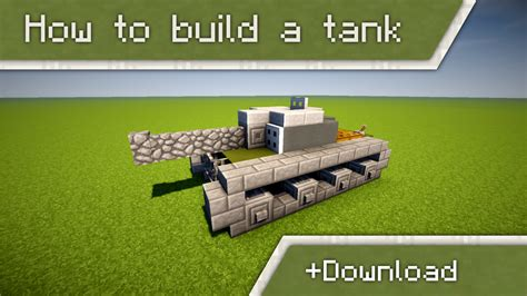 how to build a how to build a tank in minecraft minecraft