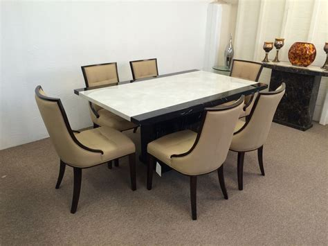 Dining Table Chairs Price by Marble Dining Table 160cm Size And 6 Chairs Grand Designs