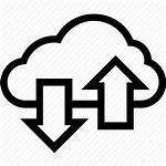 Icon Cloud Transfer Vectorified Excellence Getdrawings