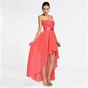 cheap coral bridesmaid dresses cheap customized plus size coral colored high low bridesmaid dresses 2015 strapless with sashes