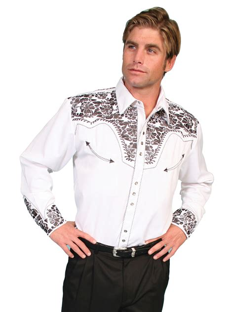 scully and scully ls scully men 39 s saddle tooled embroidered ls western show shirt
