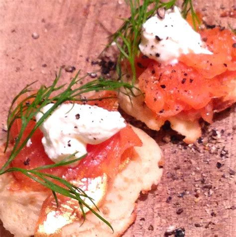 salmon canapes smoked salmon blini canapés yes