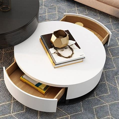 From colorful designs to wood styles, these are the best picks for your home. Modern Round Coffee Table with Storage Lift-Top Wood Coffee Table with Rotatable Drawers in ...