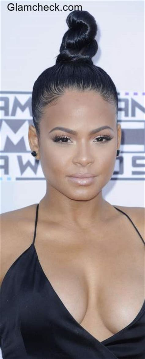 top knot hairstyles ama kendall jenner christina milian