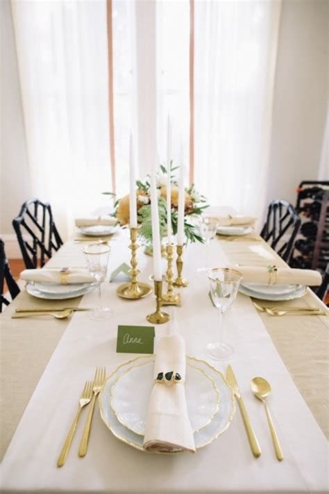 gold thanksgiving table decorations