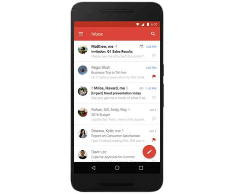gmail app for android gmail for android app update brings microsoft exchange