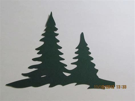 christmas double pine trees cricut die cut cards