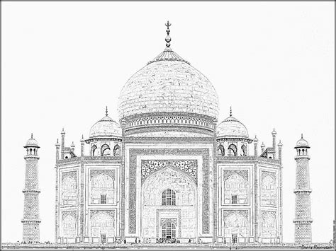 Taj Mahal 20090910 Coloring Pages Printable Free