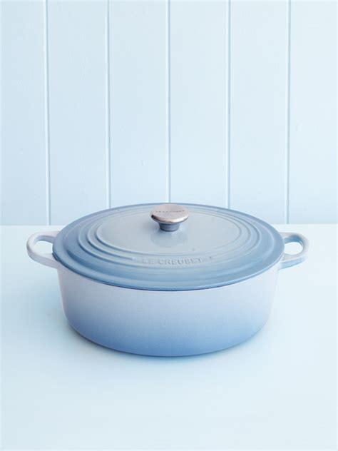 le creuset light blue casserole dish le creuset 29cm oval casserole in coastal blue donna hay