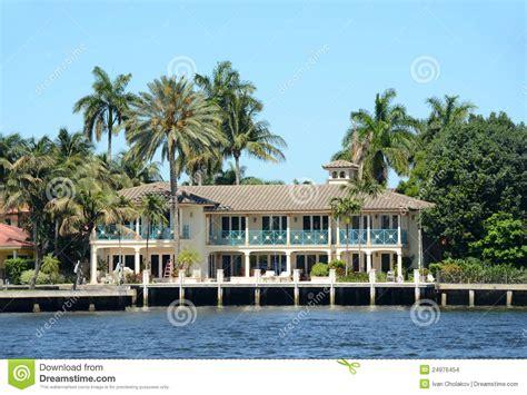maison de luxe de bord de mer en floride photo stock image 24976454