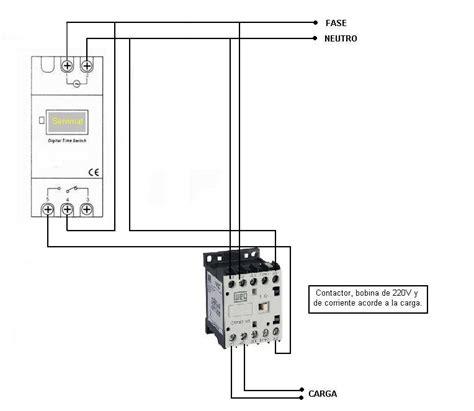 temporizador digital contactor para luces yoreparo