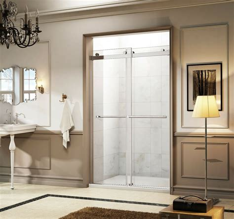 Frameless Bypass Shower Doors Of Bath 46 48 Quot X 75 Quot Frameless Bypass Sliding