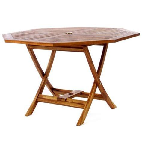 teak octagon table to48